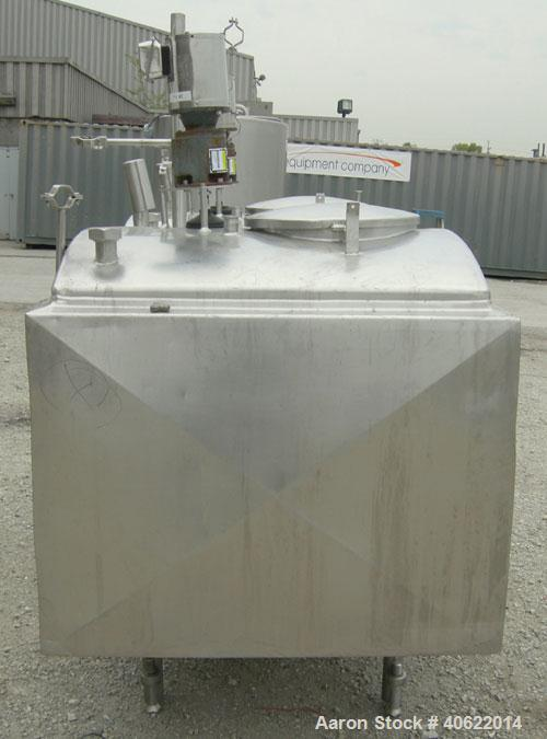 """Used-Flavor tank, (2) compartment, approximate 250 gallon each, 304 stainless steel.  41"""" long x 41"""" wide x approx 34"""" deep...."""