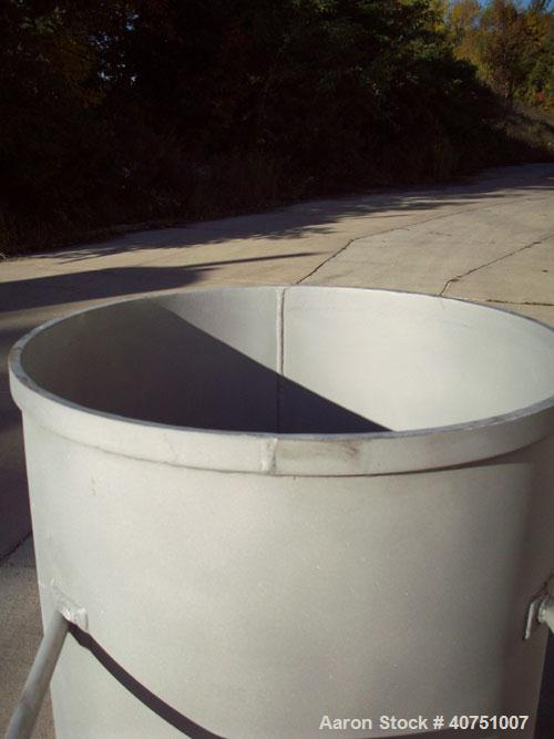 """Unused-155 Gallon Type 304L Stainless Steel Tank. 31"""" inside diameter x 47"""" deep. Open top with cover. Flat bottom. On caste..."""
