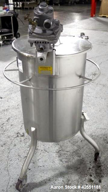 Used- 25 Gallon Stainless Steel Bush Tank