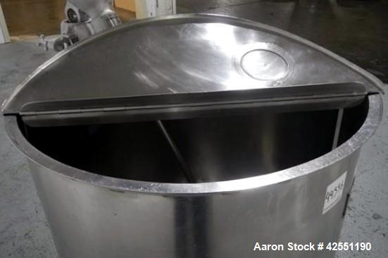 Used- 150 Gallon Stainless Steel Bush Tank