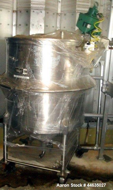Used- 130 Gallon Stainless Steel Tank
