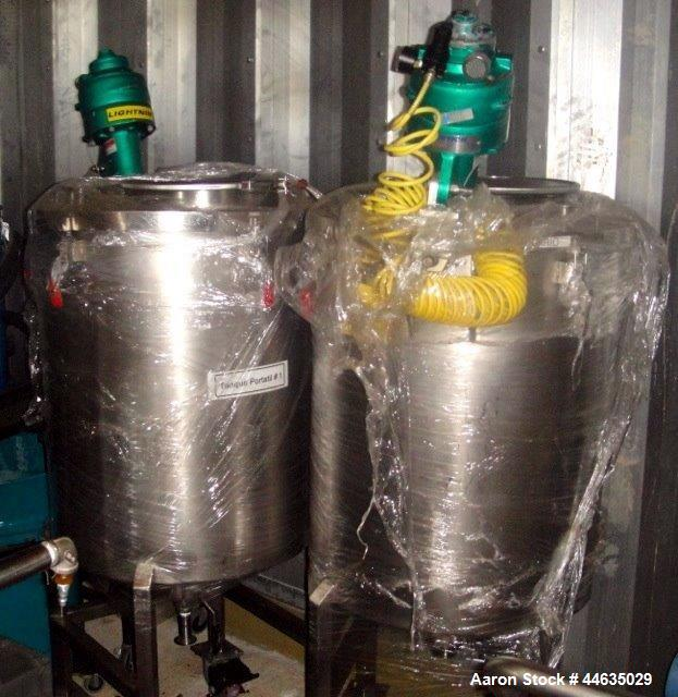 """Used- Tank, 50 Gallon, Stainless Steel. Approximately 26"""" diameter x 28"""" straight side, open top, dish bottom with clamp on ..."""