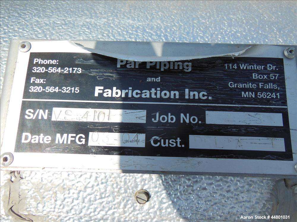 Used- 21 Gallon Stainless Steel Par Piping and Fabrication Flash Tank