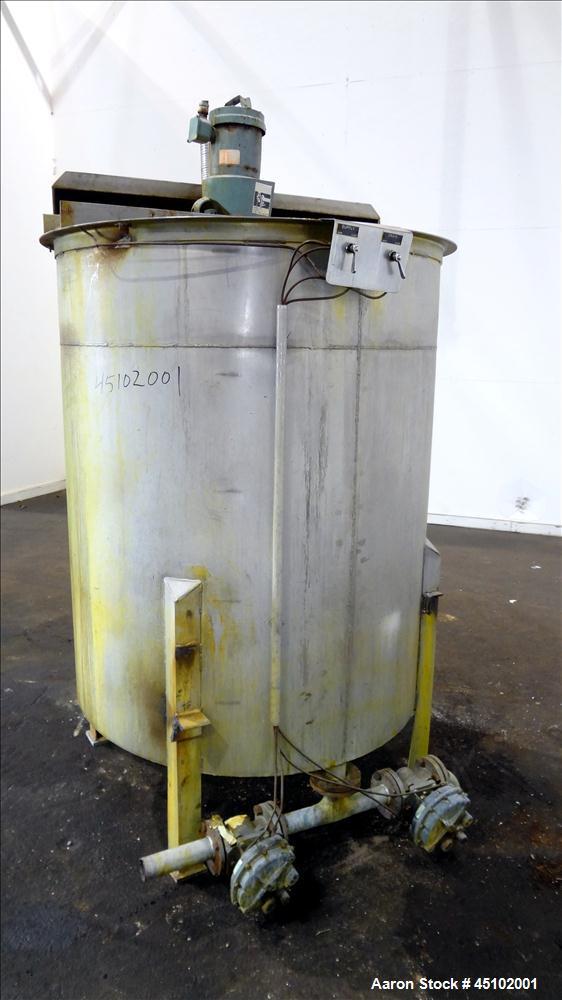 Used- 458 Gallon Stainless Steel Haza Mechanical Tank, Model XJ-30