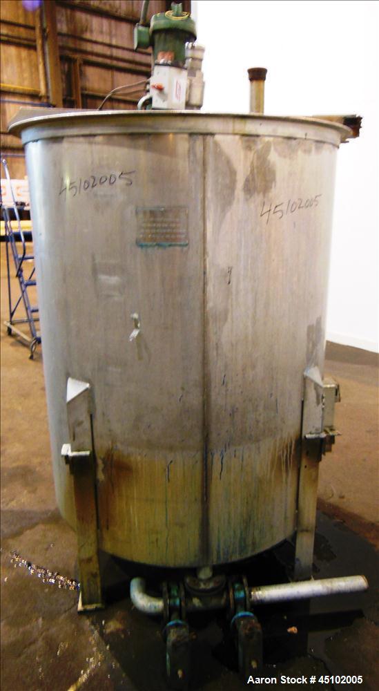 Used- 458 Gallon Stainless Steel Haza Mechanical Tank, Model XJ-30AM