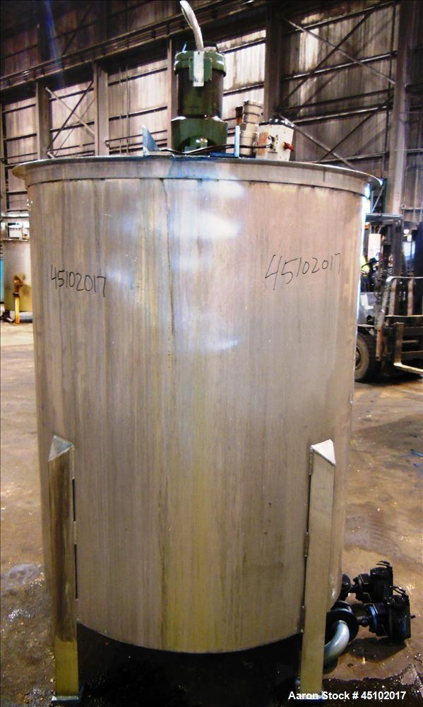Used- 458 Gallon Stainless Steel Haza Mechanical Tank, Model XJ-30AM