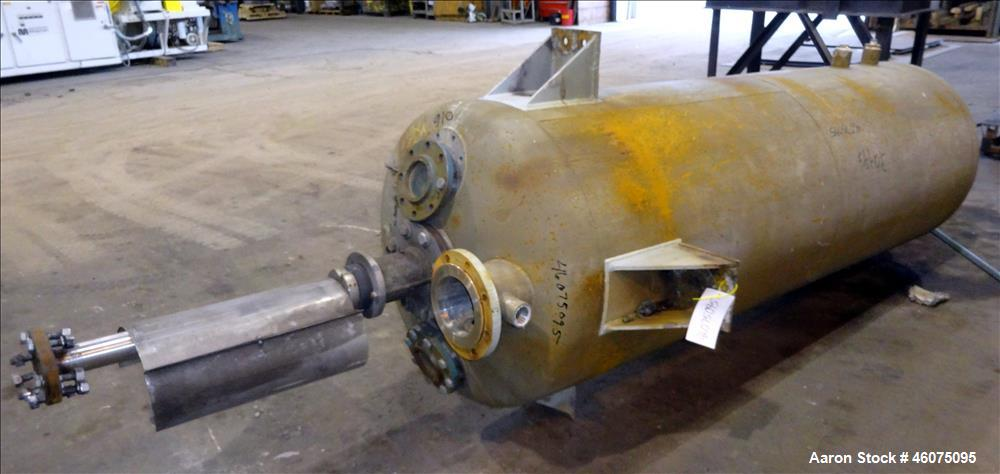Used- Agitated Tank, 425 Gallon, 304 Stainless Steel, Vertical.