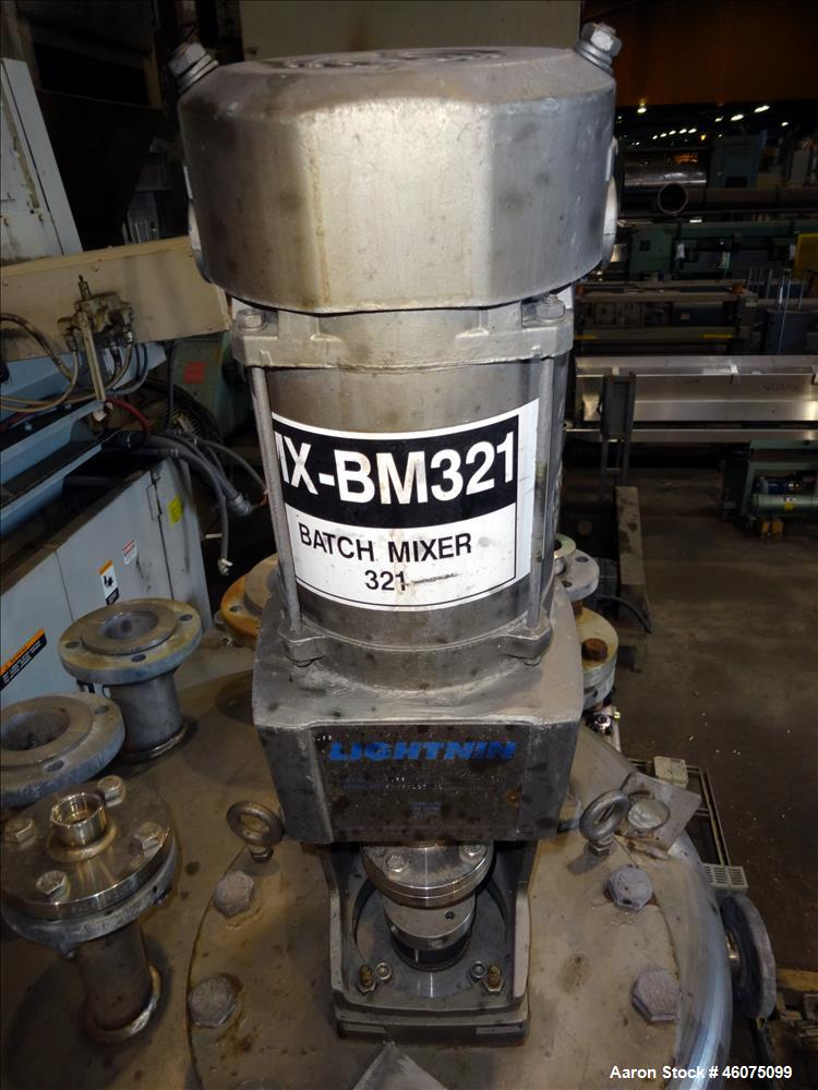 """Used- Tank, 225 Gallon, 304 Stainless Steel, Vertical. Approximate 42"""" diameter x 34"""" straight side, dished top & bottom. Of..."""