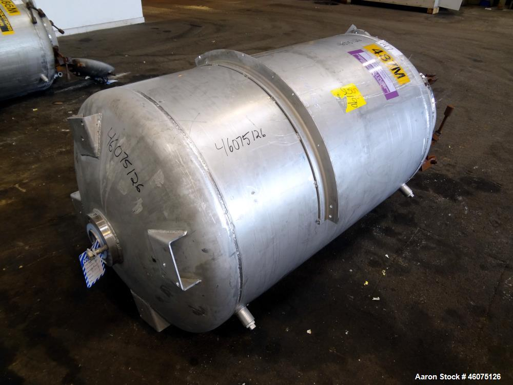 """Used- Tank, 225 Gallon, 304 Stainless Steel, Vertical. Approximate 36"""" diameter x 48"""" straight side, dished top & bottom. Sh..."""