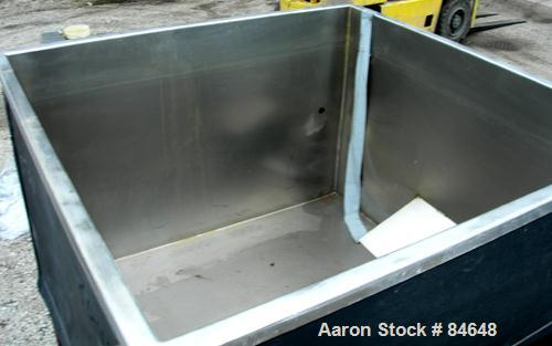 """USED: Square holding tank, 25 gallon, 304 stainless steel. 36"""" wide x 36"""" long x 24"""" deep, open top, no cover, flat bottom. ..."""
