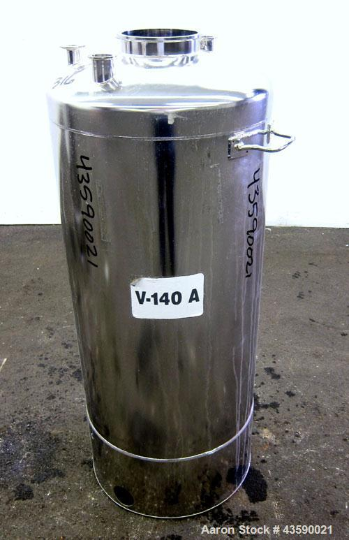 Used- 33 Gallon Stainless Steel Alloy Products Pressure Tank