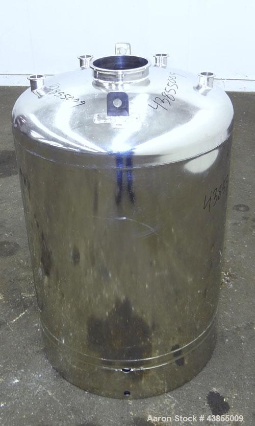 Used- 45 Gallon Stainless Steel Alloy Products Pressure Tank
