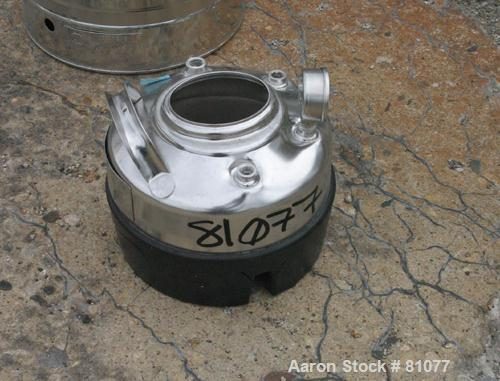 """USED: Alloy Products pressure tank, 1 gallon, 316 stainless steel, vertical. 9"""" diameter x 3"""" straight side. Dished top and ..."""