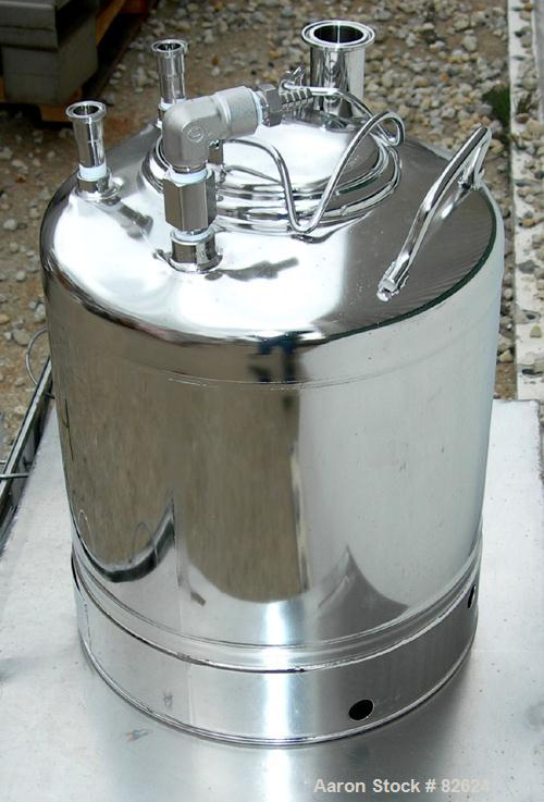 USED: 6 Gallons Stainless Steel Alloy Products Pharmaceutical-Hygienic Portable