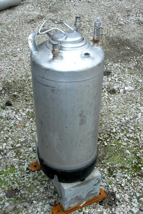 Used- 16 Gallon Stainless Steel Alloy Products Pressure Tank