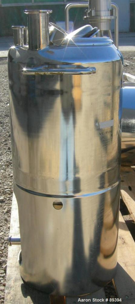 """Used- Alloy Products Pressure Tank, 5 Gallon, 316L Stainless Steel, Vertical. 9"""" diameter x 10"""" straight side. Dished top an..."""