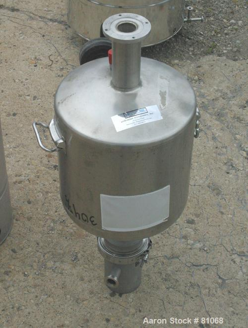 "USED: Andonian Cryogenics tank, 5 gallon, 304 stainless steel, vertical. 12"" diameter x 10"" straight side. Dished top, inver..."