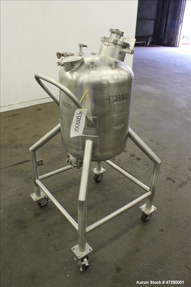 Used- Apache Stainless Equipment Pressure Tank, Approximate 20 Gallon, 316L Stai