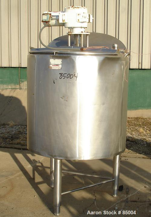 """Used- APV Crepaco Insulated Scraper Mixing Tank, 185 Gallon, 316 Stainless Steel. 40"""" diameter x 40"""" straight side. Flat top..."""