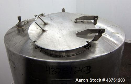 "Used- C.E. Howard Tank, 335 Gallon, 304 Stainless Steel, Vertical. 48"" Diameter x 36"" straight side. Dished top, coned botto..."