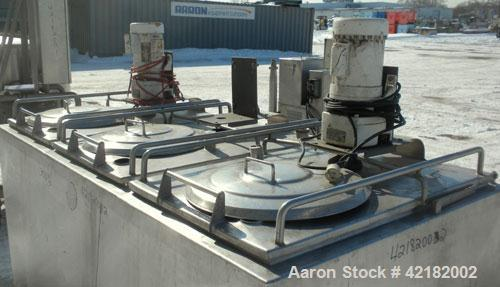 Used- Cherry Burrell 3 Compartment Tank, approximately 390 total gallons, 130 gallon each compartment, model UAMS375R, 304 s...