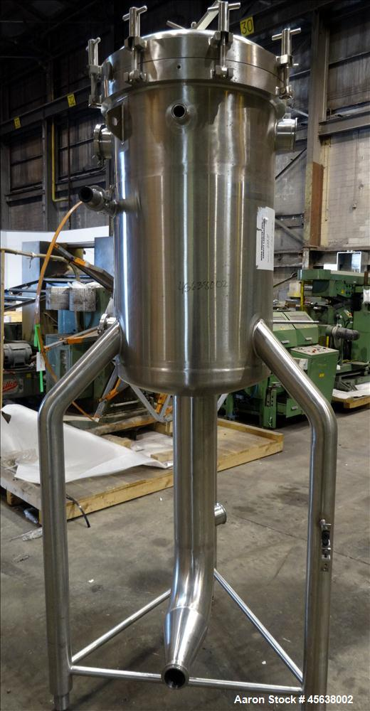 "Used- Cherry Burrel Deaerator Pressure Tank, 75 Gallon, 316L Stainless Steel, Vertical. 24"" Diameter x 40"" straight side. Di..."