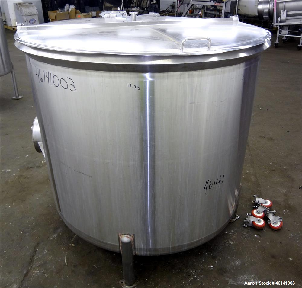 """Used- Cherry Burrel Tank, Approximately 300 Gallon, 304 Stainless Steel, Vertical. 48"""" Diameter x 40"""" straight side. Flat to..."""