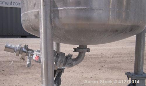 Used- 50 Gallon Stainless Steel Custom Fabricators Pressure Tank