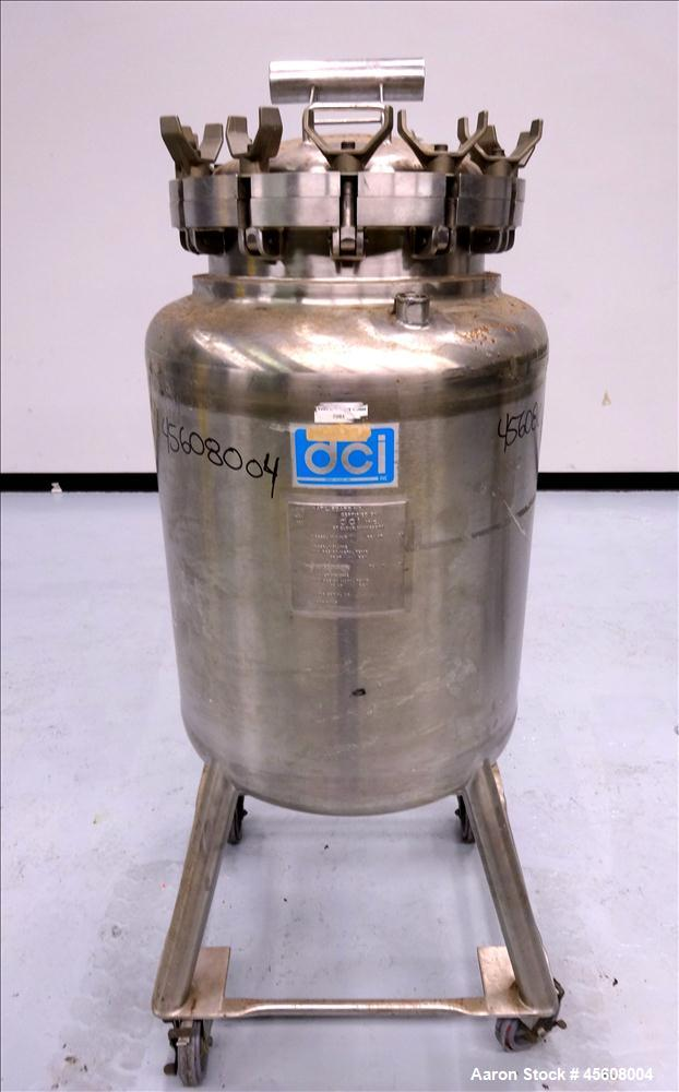 Used- DCI Reactor, 50 Gallon, 316 Stainless Steel, Vertical.