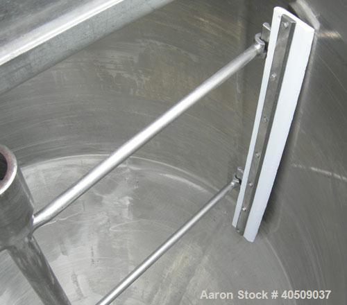 "Used- Dairy Craft tank, 175 gallon, 304 stainless steel, vertical. 42"" diameter x 28"" straight side x 28"" coned bottom, flat..."