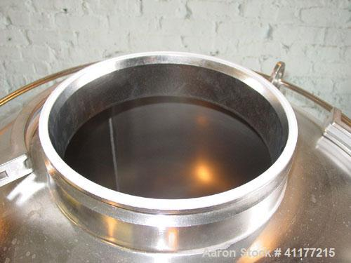 """Used- DCI Pressure Tank, 300 Liter (79 Gallon), 316L stainless steel, vertical. 29-3/4"""" diameter x 24"""" straight side, dished..."""