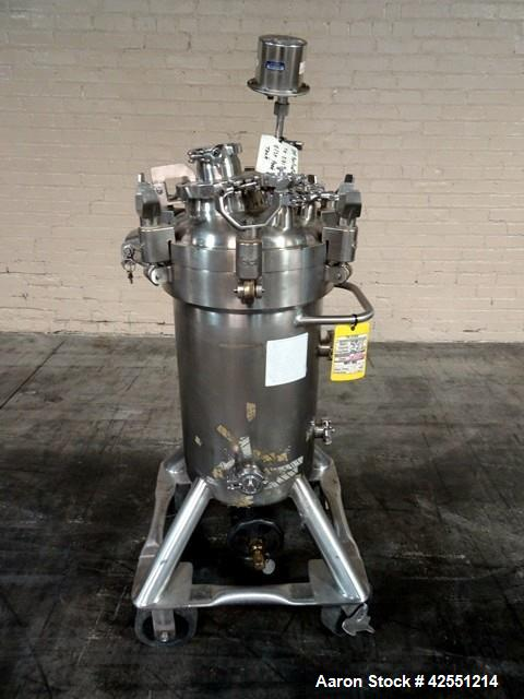 """Used- DCI Receiver Tank, 50 Liter (13.2 Gallons), Stainless Steel. 12"""" Diameter x 21"""" straight side. Removable dish top, dis..."""