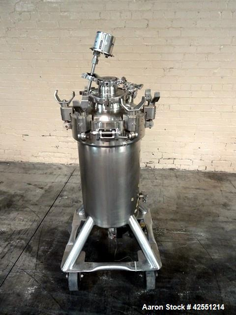 "Used- DCI Receiver Tank, 50 Liter (13.2 Gallons), Stainless Steel. 12"" Diameter x 21"" straight side. Removable dish top, dis..."
