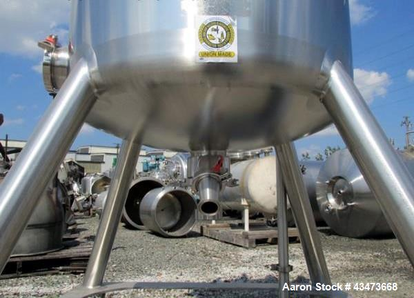 """Used- DCI Receiver, 300 Liter (79.2 Gallon). 316 Stainless steel construction, approximately 30"""" diameter x 25"""" straight sid..."""