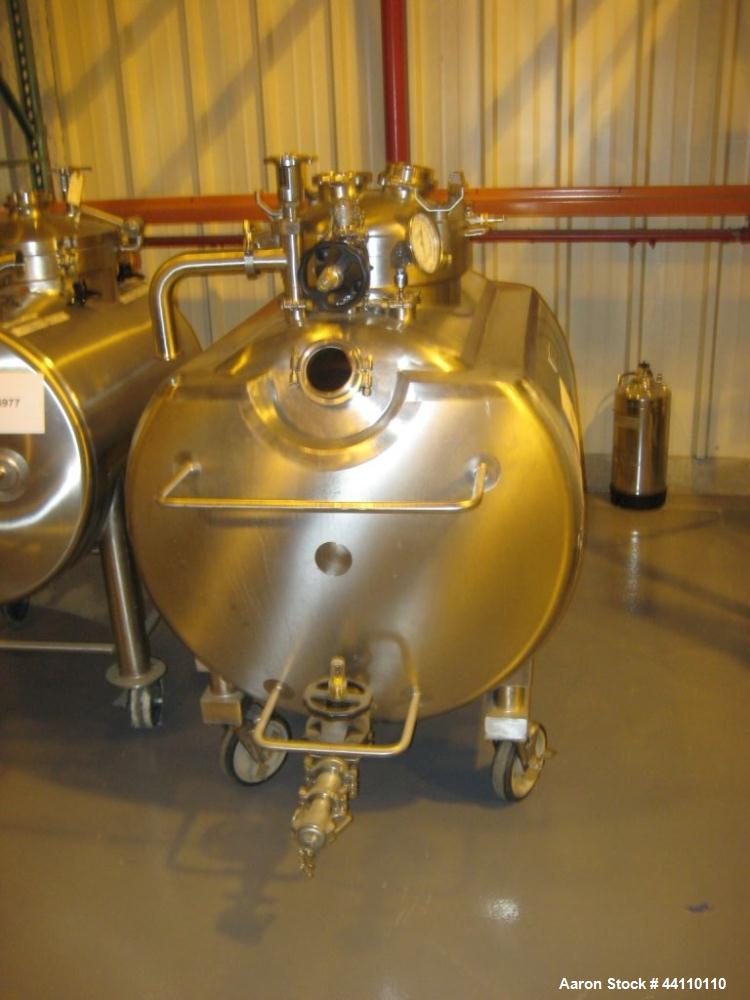 Used- DCI Inc Horizontal Stainless Steel Pressure Vessel, 132 gallon (500 L) rated 30 psi @350 F, Built 1996, S# 96PH54385B,...