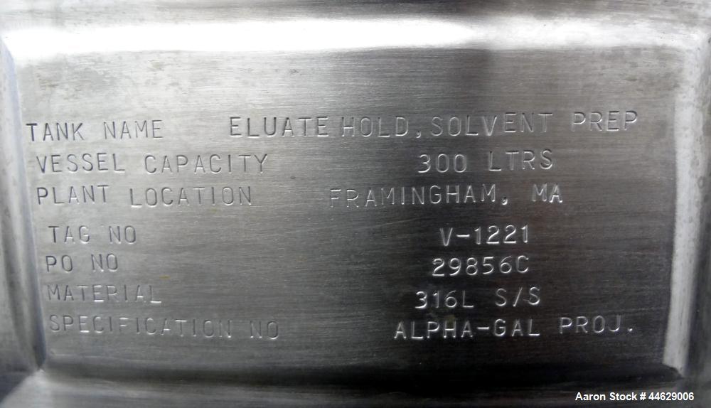 Used-  79 Gallon Stainless Steel Feldmeier Pressure Tank