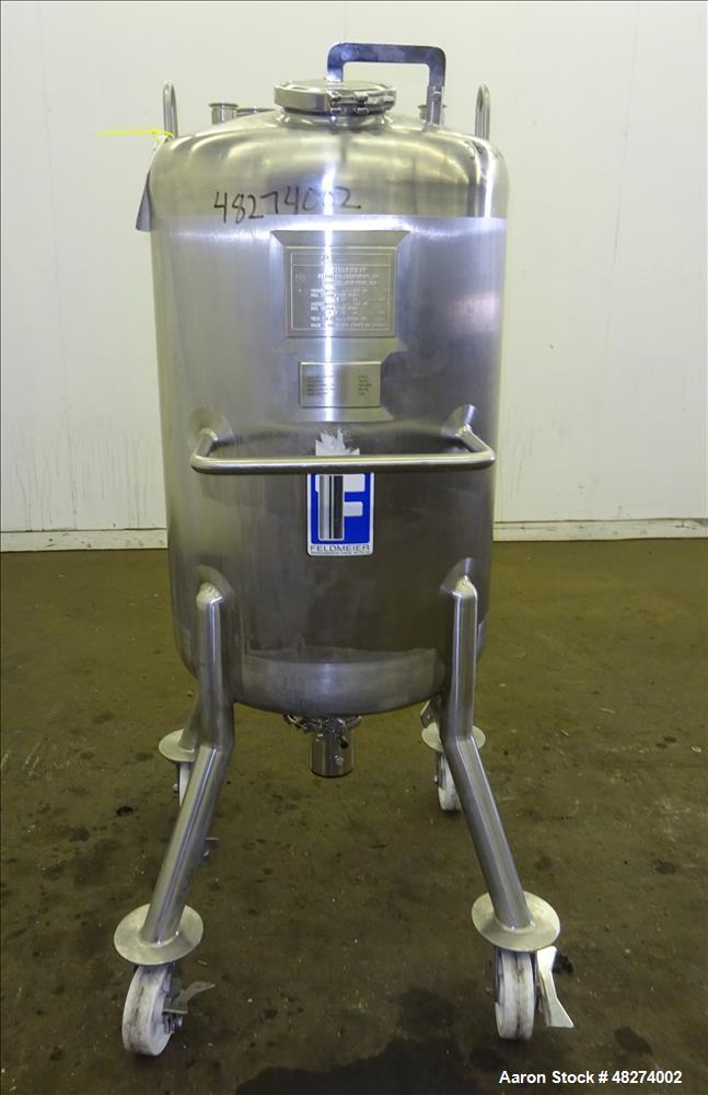 Used- Feldmeier Pressure Tank, 200 Liter (52.88 Gallon), 316L Stainless Steel, V
