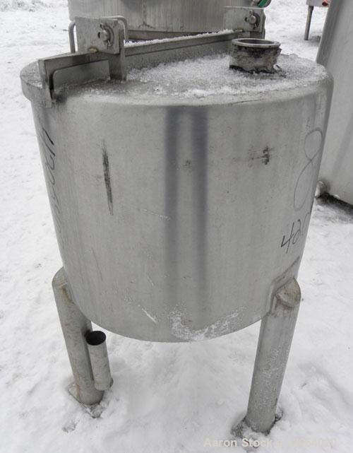 "Used- General Oil Equipment Company Tank, 15 gallon, 316 stainless steel, vertical. 18"" diameter x 14"" straight side, 1/2 op..."