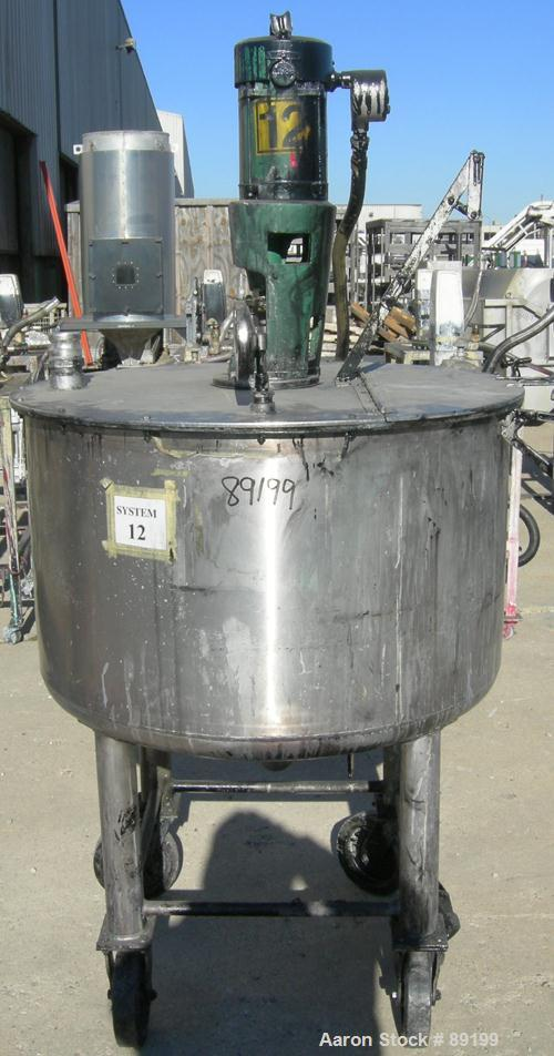 Used- Graco Tank, 100 Gallon, 304 Stainless Steel, Vertical, Model XJCK-43