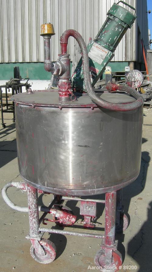 USED: 100 Gallon Stainless Steel Graco Tank, Model XJCK-43