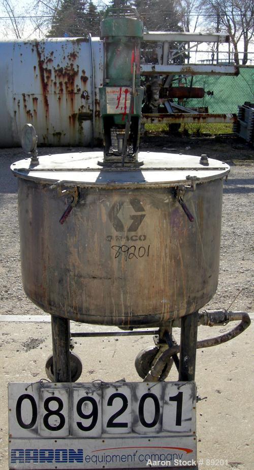 USED: 100 Gallon Stainless Steel Graco tank, Model XJCK-43