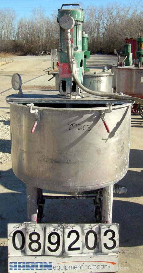 USED: 100 Gallon Stainless Steel Graco Tank, Model XJCK-44
