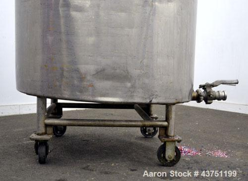 """Used- Groen Tank, 200 Gallon, 304 Stainless Steel, Vertical.42"""" Diameter x 35"""" straight side.Dished top, 1"""" sloped bottom.Op..."""