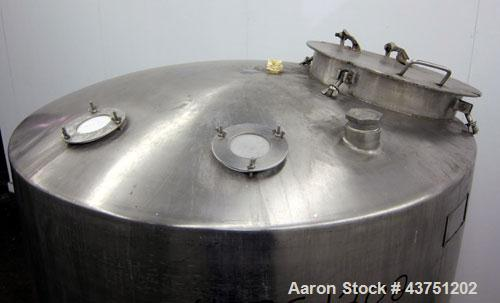 """Used- Groen Tank, 335 Gallon, 304 Stainless Steel, Vertical.  48"""" Diameter x 36"""" straight side.  Dished top, coned bottom.  ..."""