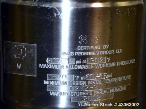 Used- 5 Gallon Stainless Steel Hans Pedersen Pressure Tank