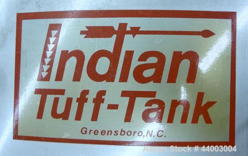 "Used- Indian Tuff-Tank, 350 Gallon, 316 Stainless Steel, Vertical. Approximate 38"" diameter x 35"" straight side. Flat top, s..."