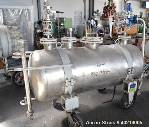 Used- 630 Liter Stainless Steel Inox AG Mobile Pressure Tank