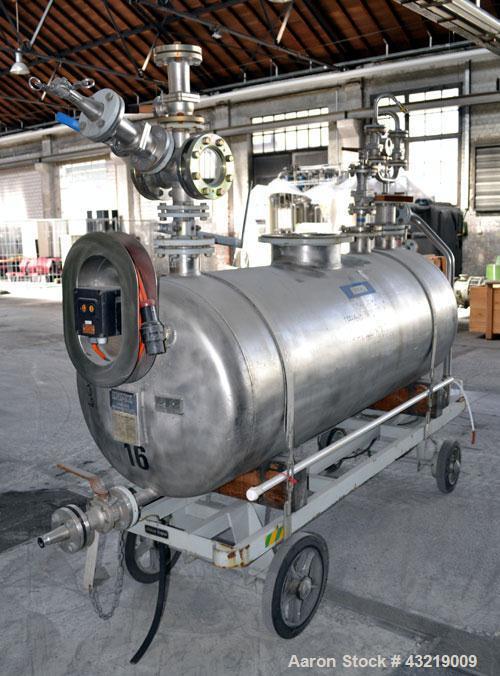 Used- 1000 Liter Stainless Steel Inox AG Mobile Pressure Tank