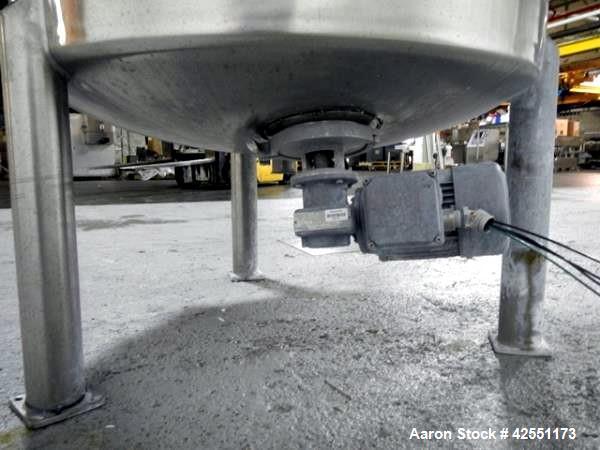 Used- 1000 Liter Stainless Steel Lee tank, Model 1000LDBT