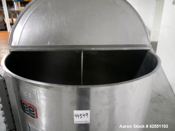 Used- 1000 Liter Stainless Steel Lee Tank, Model 1000LSS